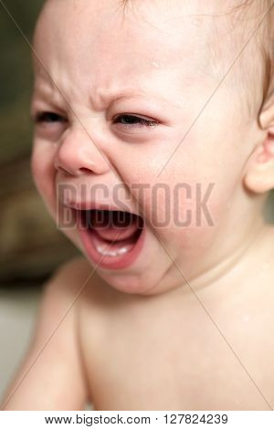 Crying Baby In Bathroom
