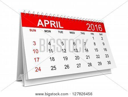 2016 Calendar. Week Starts With Sunday