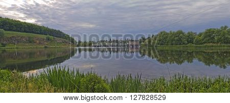 The river the Southern Bug in Ukraine. The nature in Vinnytsia.