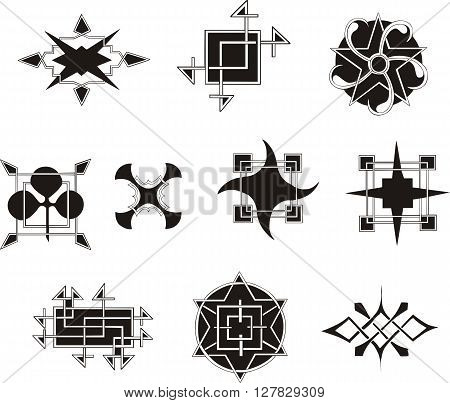 Symmetrical Geometrical Decorative Elements