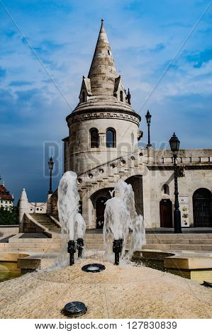 Fisherman's Bastion in Budapest at Old Town district