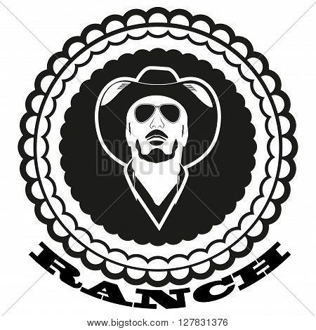 Emblem ranch on a white background. Vector illustration.
