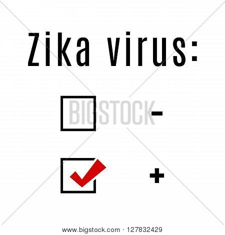 Concept zika virus illustration for warning message. Information sign with ZIKV. Do not Get Pregnant.