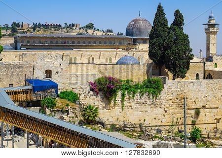 Al-aqsa Mosque. The Old City Of Jerusalem