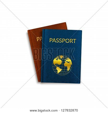 Simple vector illustration of isolated travel document.