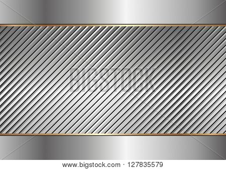 textured metal background with copy space - vector illustration