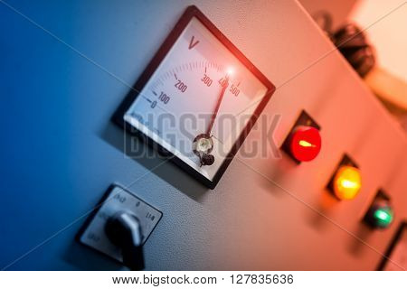 Electric Outdoor Fuse Box In Soft Light