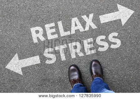 Stress stressed and relax relaxed health businessman business man concept pressure in job