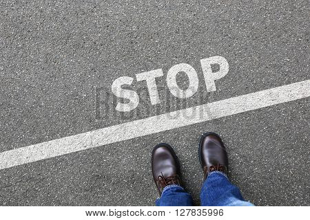 Stop Wait Waiting Businessman Business Man Concept
