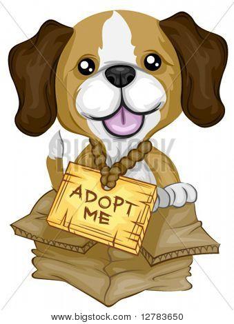 ¡ ADOPTAME Beagle - Vector