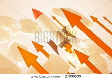Startup Rocket Red Arrows