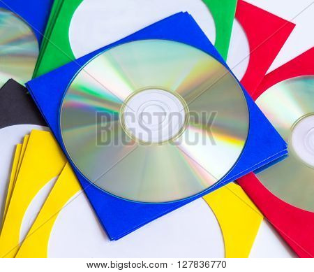 CDs / DVD envelopes for disks on white background technologies
