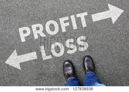 Loss And Profit Finances Financial Company Businessman Business Man Concept