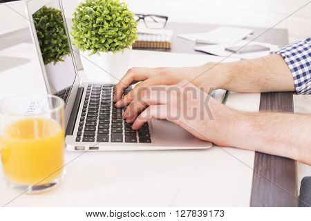 Typing On Notebook Side