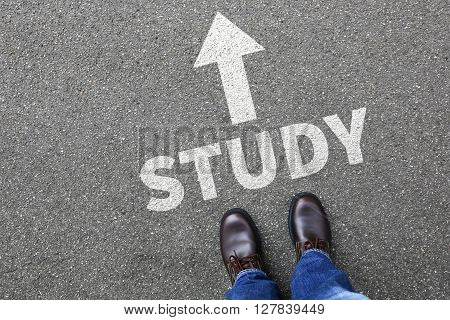 Study student studying studies education students university decision concept
