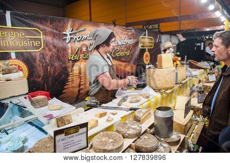 People Buying French Traditional Cheese