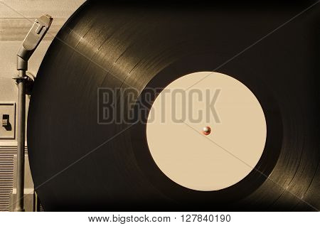 Musical vinyl record in a retro style