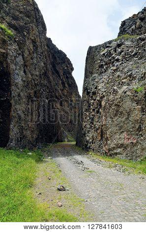 Road Through Cliff