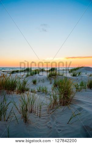 View On Sand Dunes Of Liepaja Beach