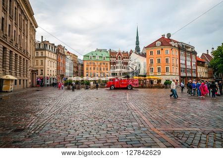 View On Main Squre Of Riga