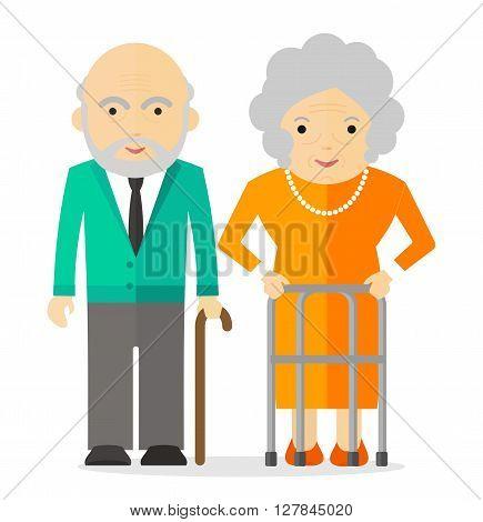 Elderly Couple Happy