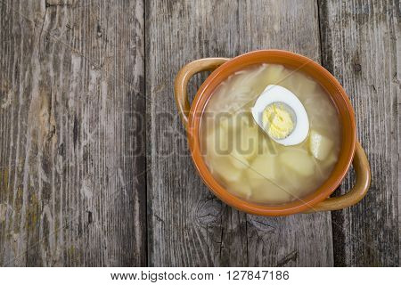 Chicken Broth With Egg