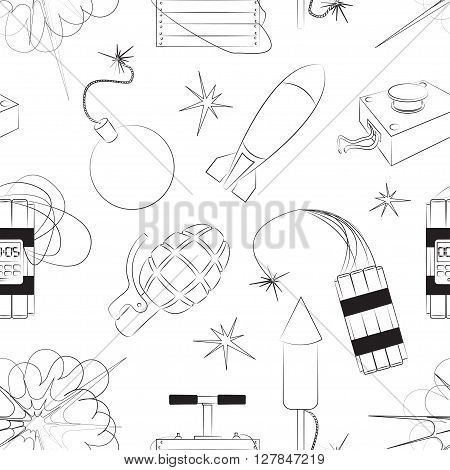 Set of bombs for your design. Explosives pattern