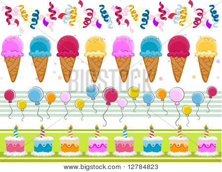 Party Border Set - Vector