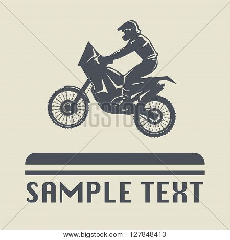Motorcycle jump icon or sign, vector illustration
