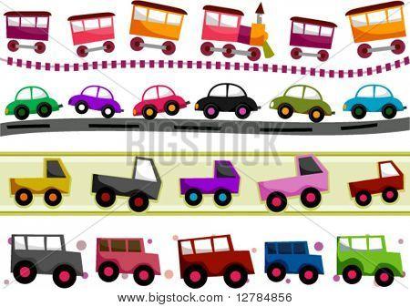 Transportation Border Set - Vector