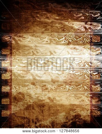 Old negative film strip