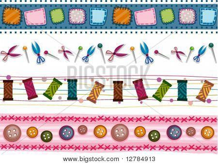 Sewing Border Set - Vector
