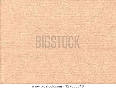 Texture of orange microfiber cloth for design background.