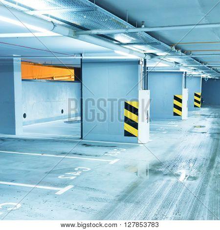 Empty Underground Parking