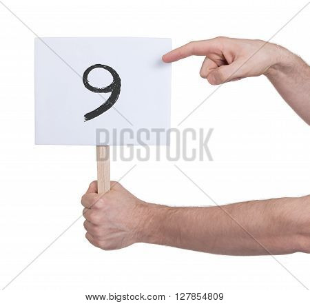 Sign With A Number, 9