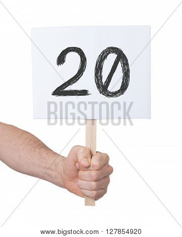 Sign With A Number, 20