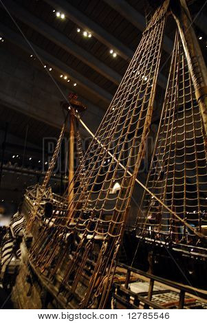 Old Ship At Vasa Museum, Stockholm, Sweden