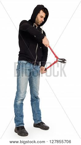Robber With Red Bolt Cutters
