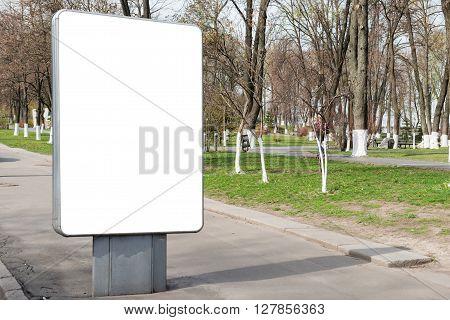 Empty Billboard Or Lightbox On City Street