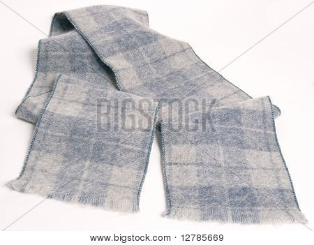 Scarf With Square Pattern In Shades Of Grey