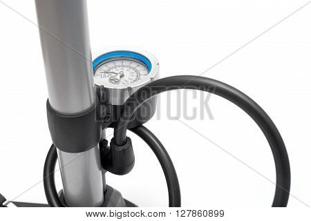 Bicycle pump isolated on a white background