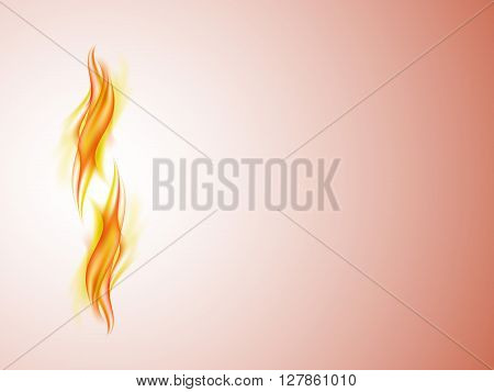 Abstract background with flames in yellow and red tones, vertical yellow and red lines, vector illustration