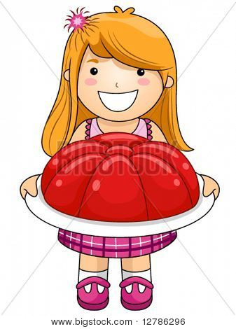 Girl with Jelly - Vector