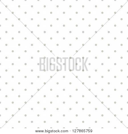 Thin beige polkadot white seamless pattern. Vector fine unostentatious abstract circles for website.