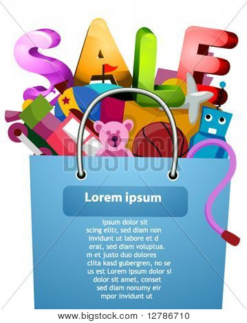 Toys Sale Flyer Design - Vector