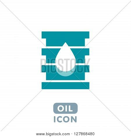 Modern Creative Design Flat Vector Barrel Oil Icon Sign with Drop