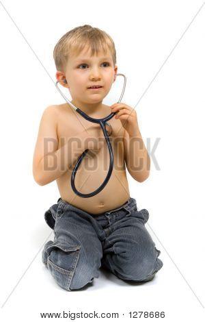 Boy With Stethoscope