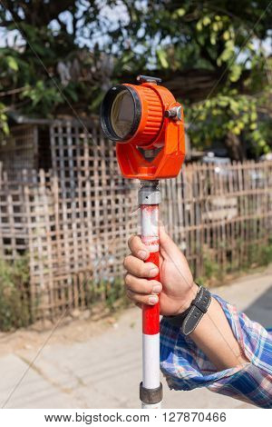 Tool Of Surveying Measuring Equipment Level Transit For Engineer