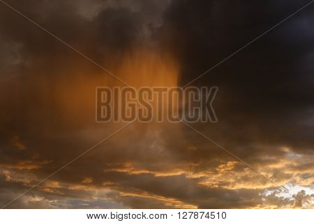 Sky And Glowing Cloud In The Rainy Day, Weather Background