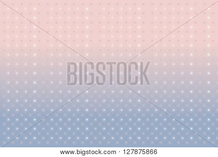 Background with stars. Serenity and pink quartz. Vector background.
